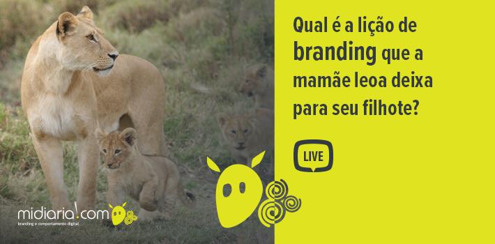 Qual é a lição de branding que a mamãe leoa deixa para seu filhote?